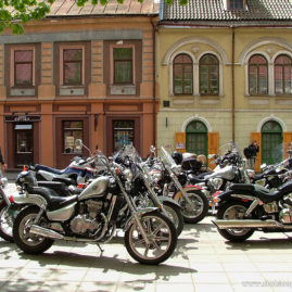 Motorcycles on Vilniaus Street