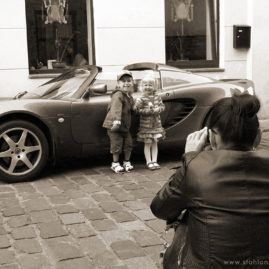 Kids with Sports Car