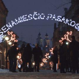 Lights on Vilniaus Street
