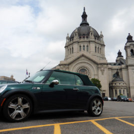 Mini Car and Cathedral