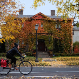 Ivy House with Bicyclist