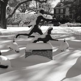 Cochran Park Fountain – Winter