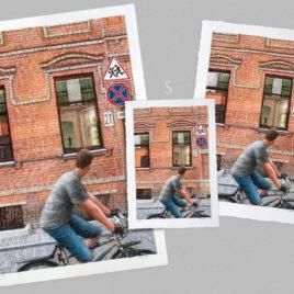 Guy on Bike – Large