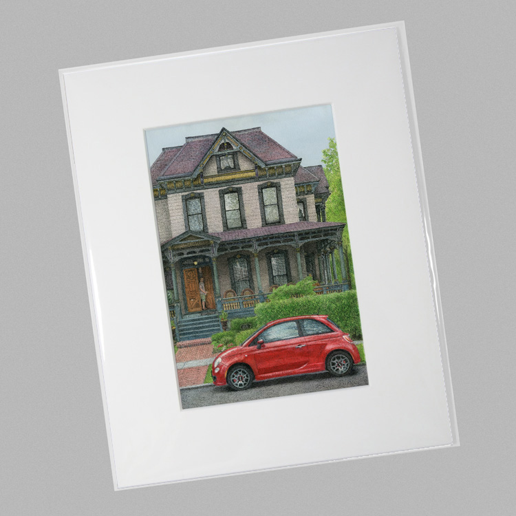 House With Fiat 500 Mini Stohl On Paper