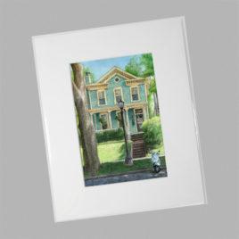 Pastel House w/ Vespa (Mini)