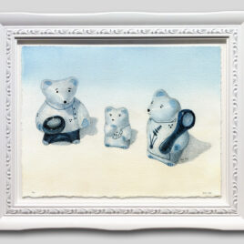 Three Porcelain Bears Small