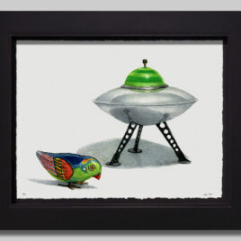 Windup Bird with Saucer Small