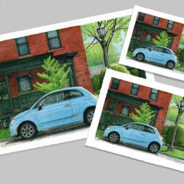 Spring Foliage, Blue Fiat